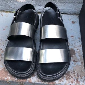 COS Silver Leather Sandals
